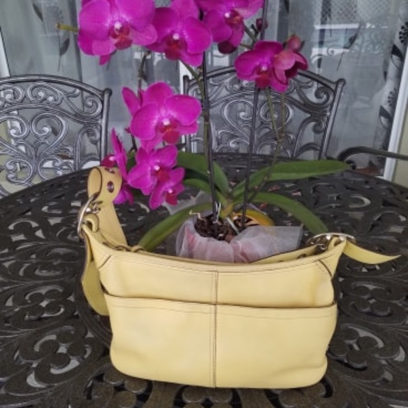Coach Handbags - Coach yellow purse